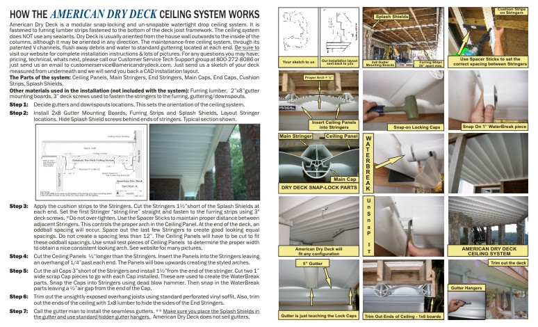 BROCHURE- THE PREMIER WATERTIGHT DECK CEILING SYSTEM